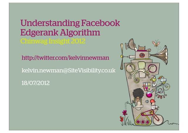 Chinwag Facebook Marketing Conference Edgerank