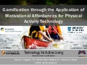 #Gamification through the Application of Motivational Affordances for Physical Activity Technology
