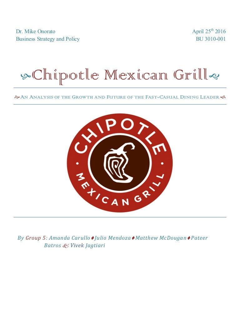 ChipotleAn Analysis of the Growth and Future of the FastCasual Din