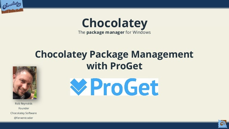 Webinar: Chocolatey Package Management with ProGet