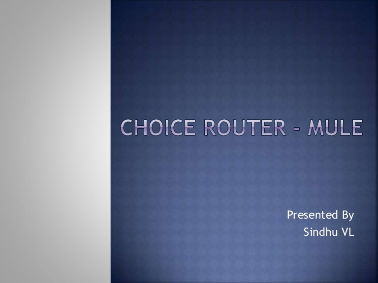 Choice router mule