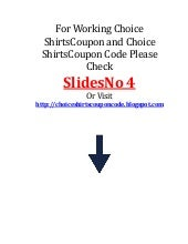 Choice shirts coupon code