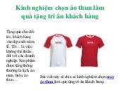 Chon ao-thun-lam-qua-tang