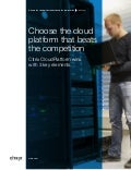 Whitepaper: Choose the cloud platform that beats the competition - Citrix CloudPlatform