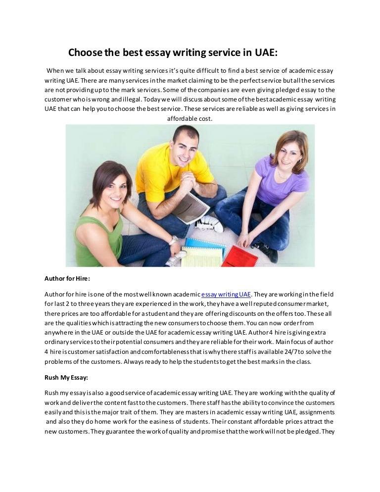 choose the best essay writing service in uae