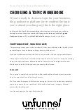Choosing A Niche Business Idea Worksheet