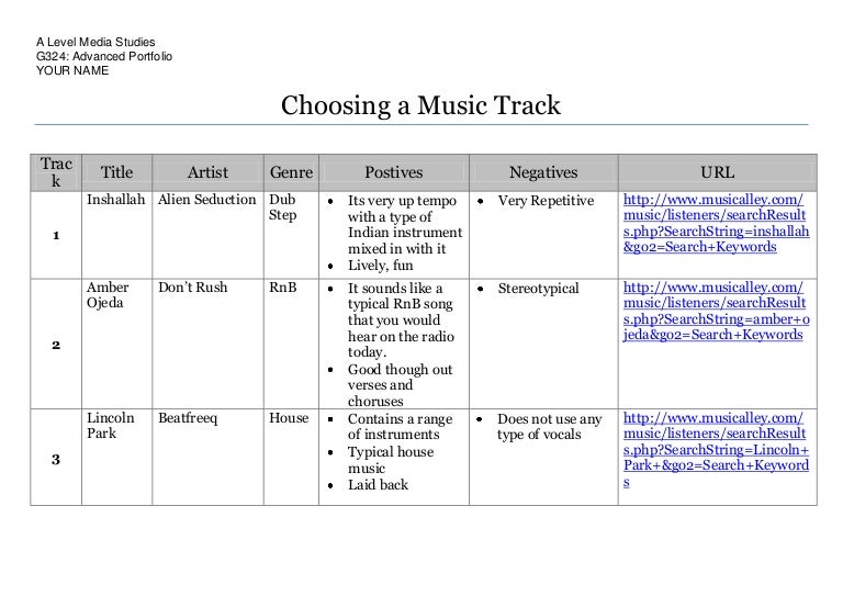 Song Selection