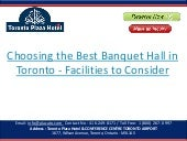 Choosing the Best Banquet Hall in Toronto - Facilities to Consider