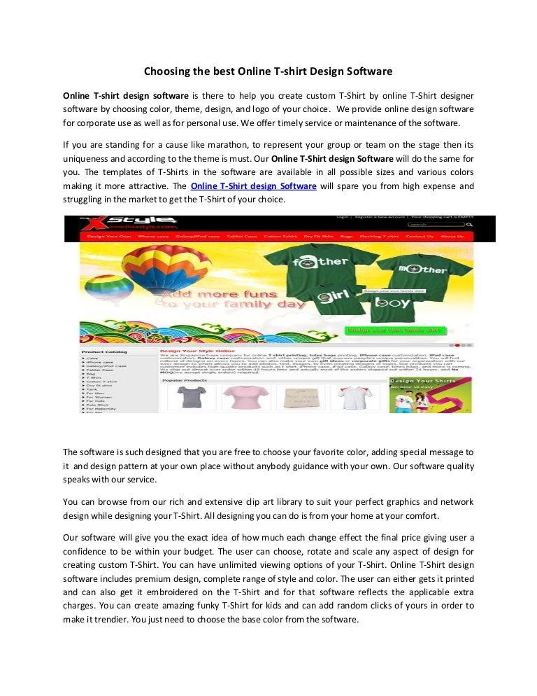 Choosing The Best Online T Shirt Design Software