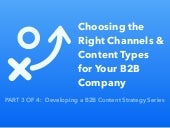 Choosing the Right Channels & Content Types for your B2B Company
