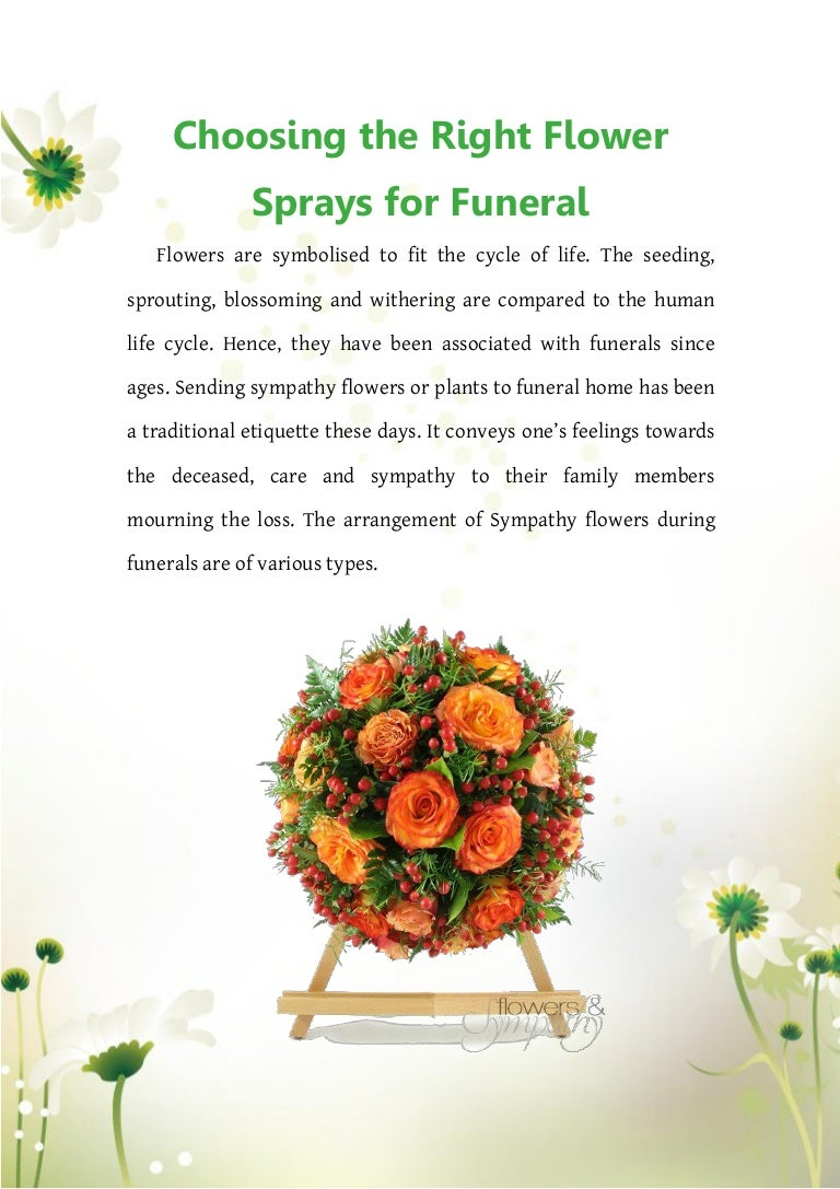 Choosing The Right Flower Sprays For Funeral