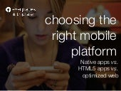 Choosing the Right Mobile Platform