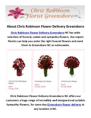 Chris Robinson Greensboro Flower Delivery - (336) 814-2008