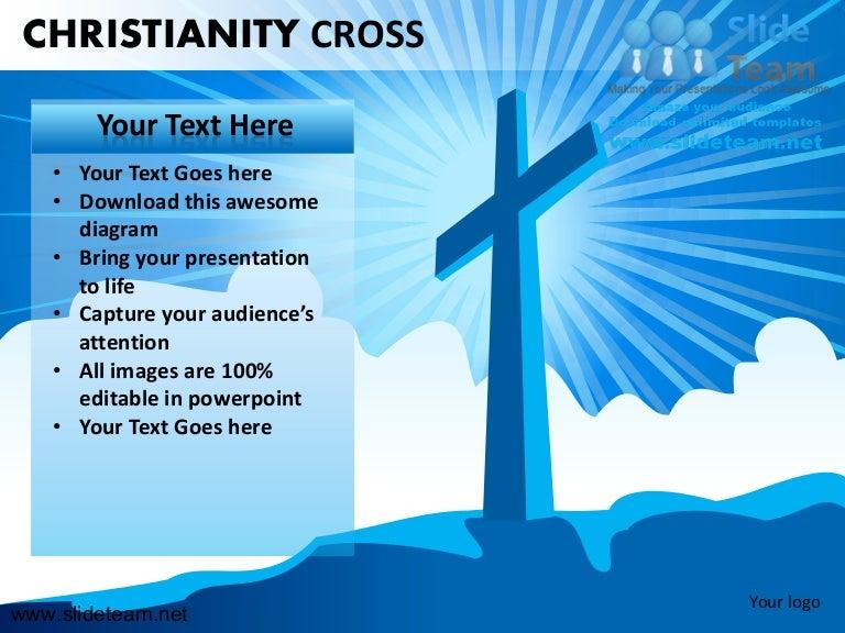 Christianity Cross Jesus Christ Powerpoint Ppt Slides