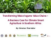 Transforming Maize-legume Value Chains –A Business Case for Climate-Smart Agriculture in Southern Africa