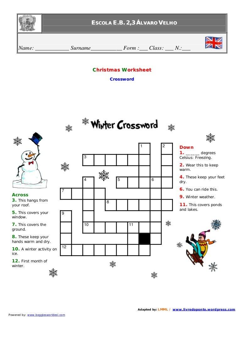 sc 1 st  SlideShare & Christmas[1].Winter.Crossword 25forcollege.com
