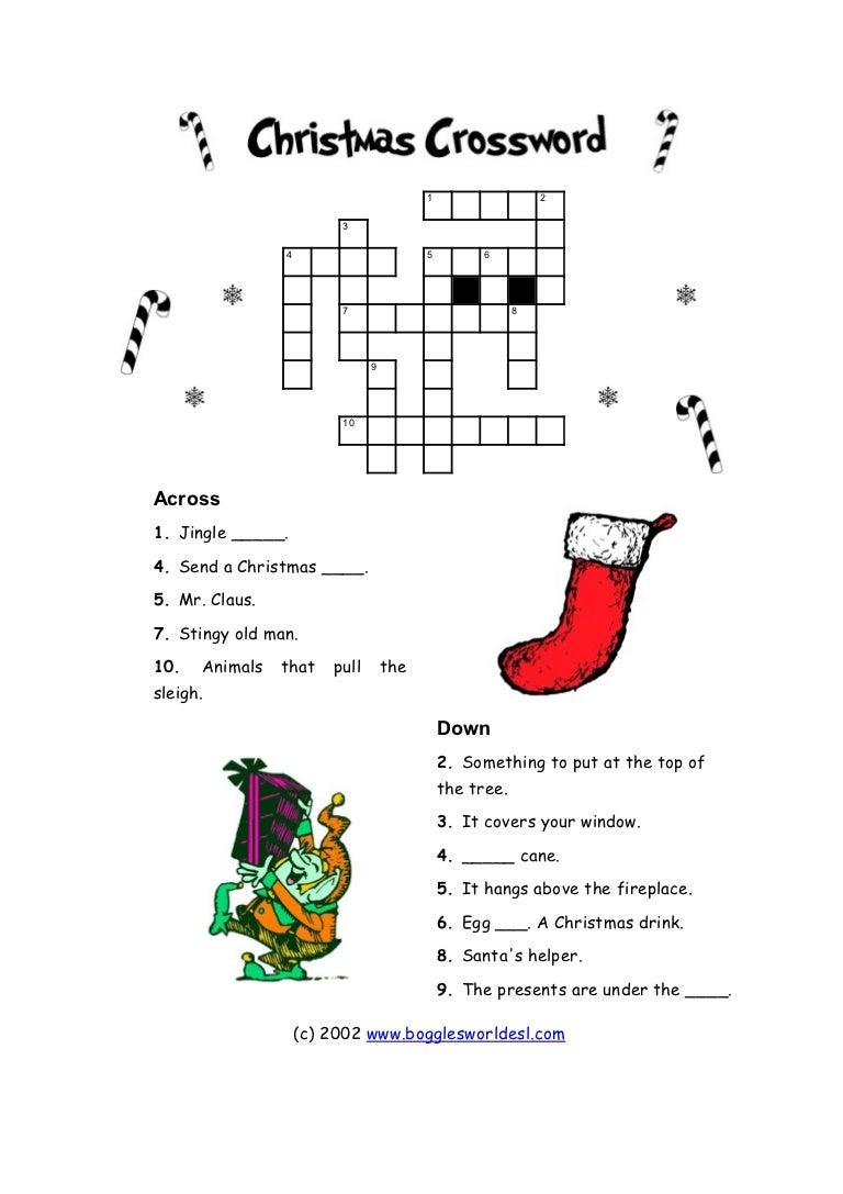 Christmas crossword for beginners!