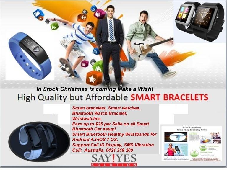Christmas is coming make a wish! say ye s smart bracelet