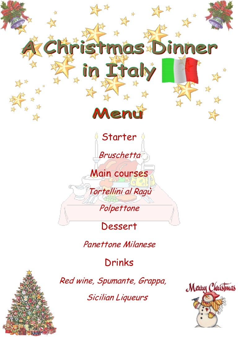 Christmas Italian Menu And Traditions
