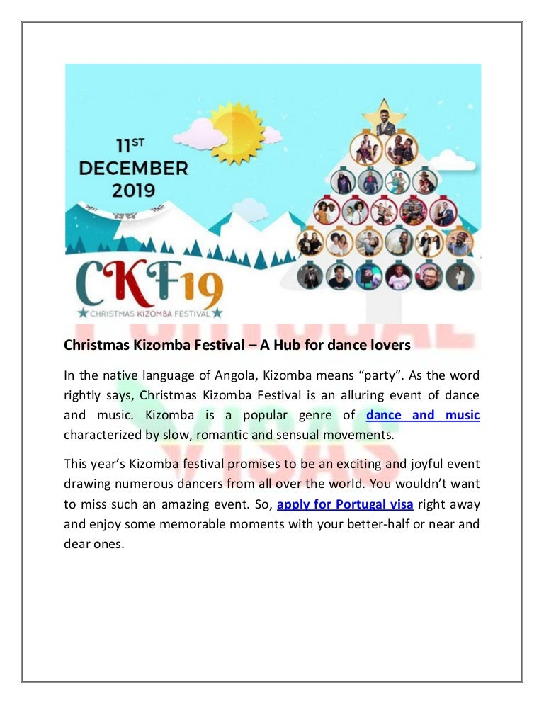 Christmas Kizomba Festival – A Hub for dance lovers