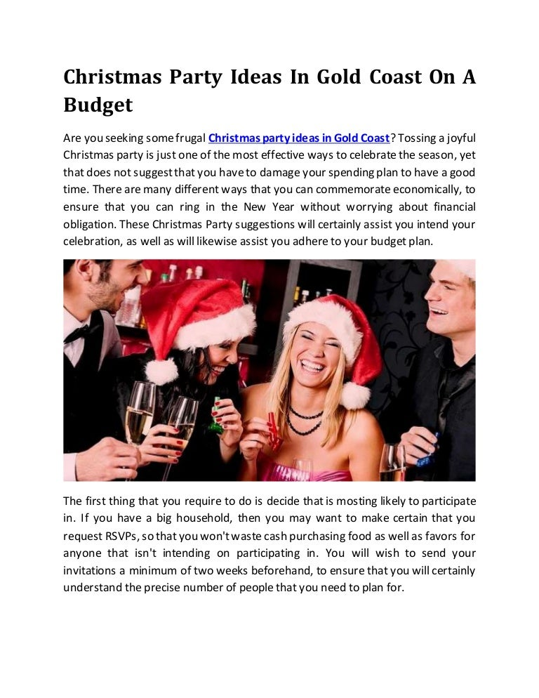 Christmas Party Ideas In Gold Coast On A Budget