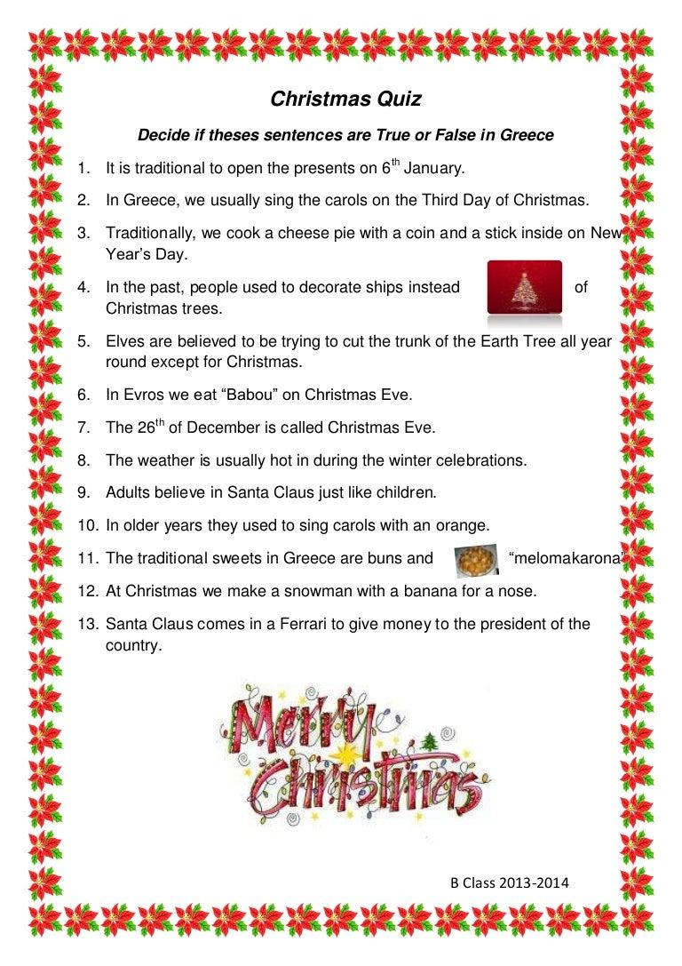 Christmas quiz final