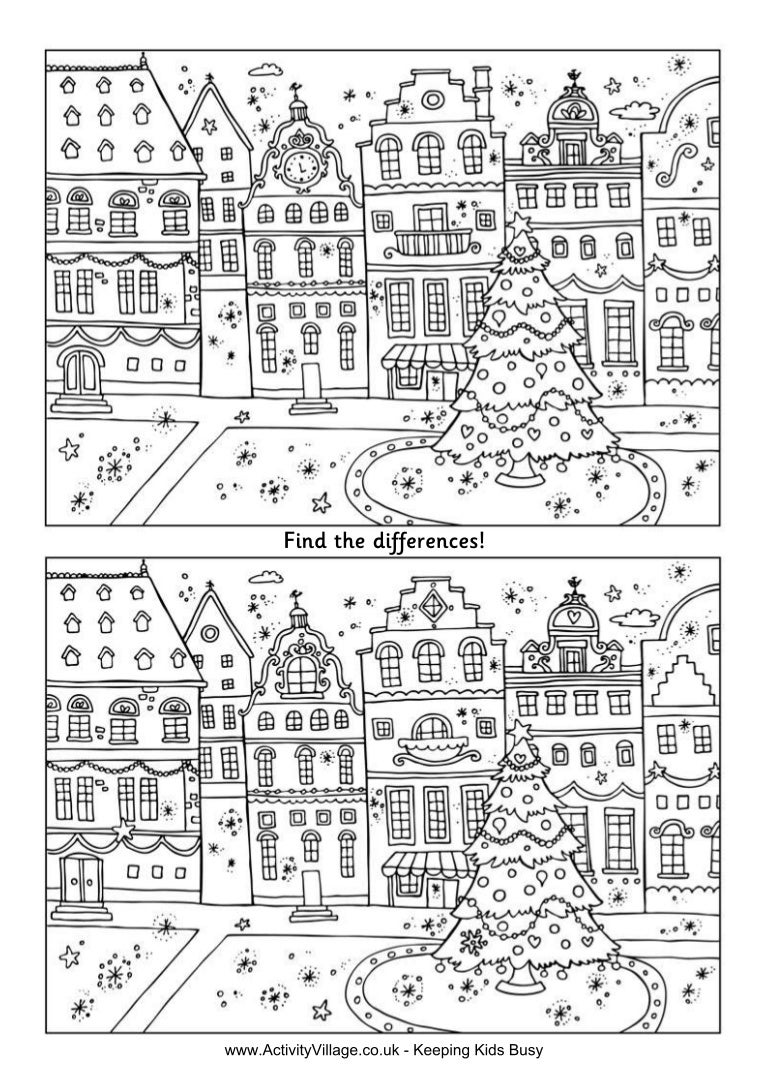 Christmas street findthedifferences