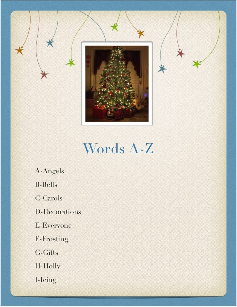 christmas word a z