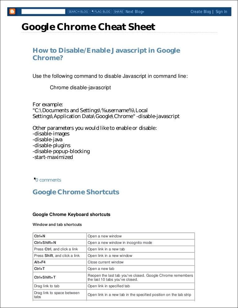 Chrome sheet