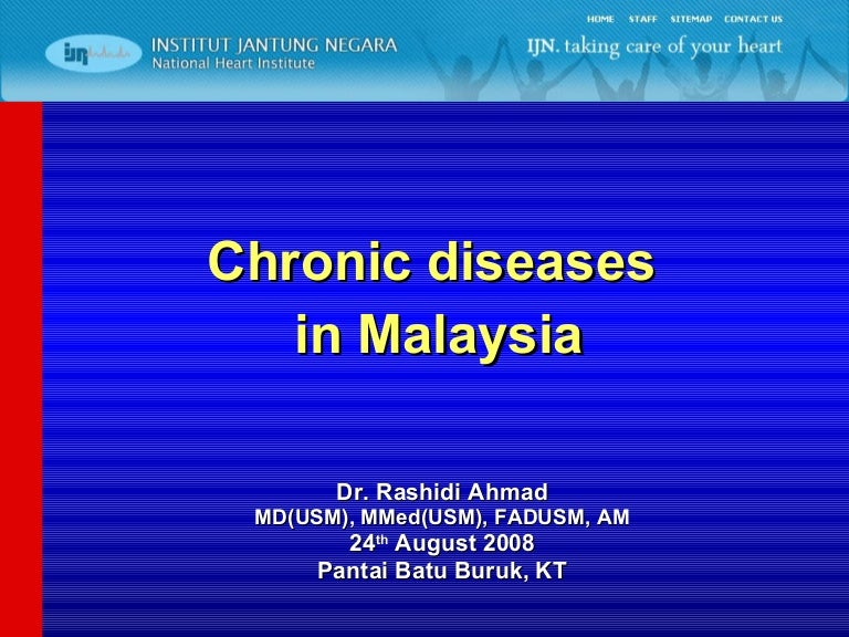 Chronic Disease In Malaysia