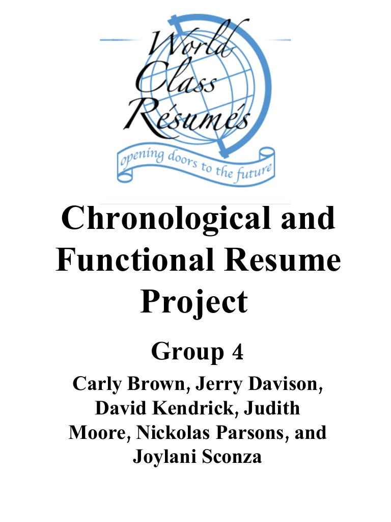 SlideShare  Functional Resume Vs Chronological