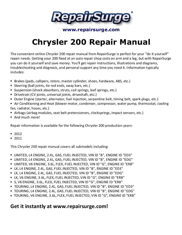 chrysler200repairmanual2011 20121 141115104810 conversion gate01 thumbnail 4?cb=1416048520 chrysler 200 repair manual 2011 2012 2015 Chrysler 200 Fuse Box Diagram at crackthecode.co