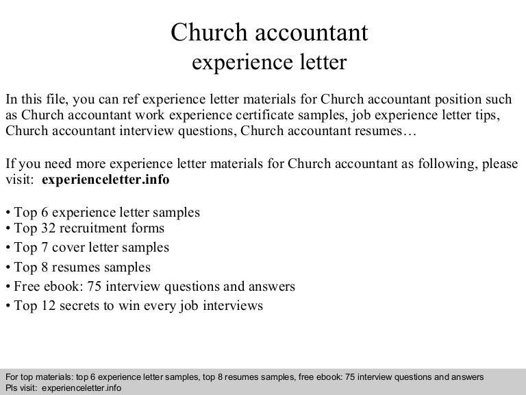 church resumes