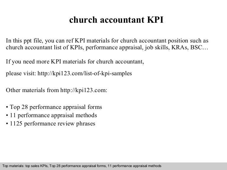 Church Accountant   Resume CV Cover Letter