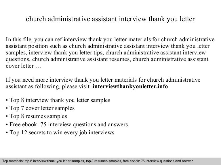 Church administrative assistant