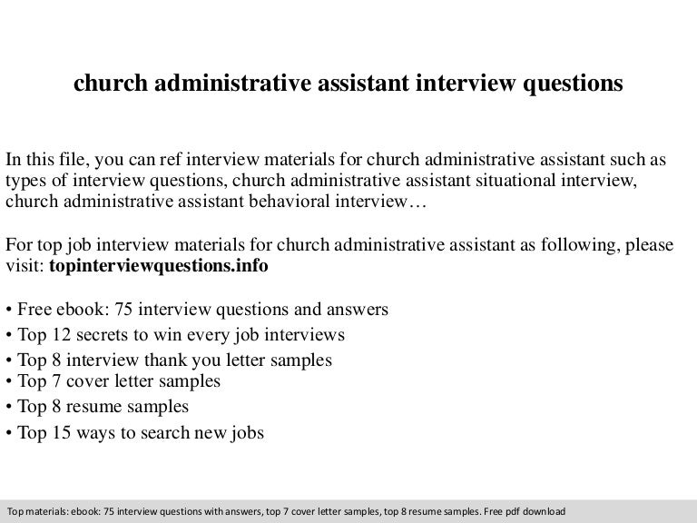 church administrative assistant interview questions - Church Administrative Assistant Salary
