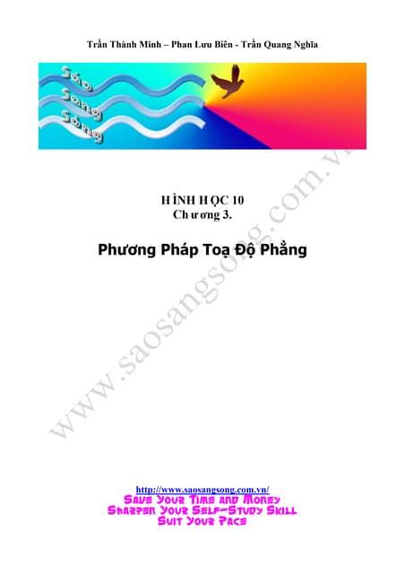 Chuyên đề 3 phương pháp toạ độ trong mặt phẳng