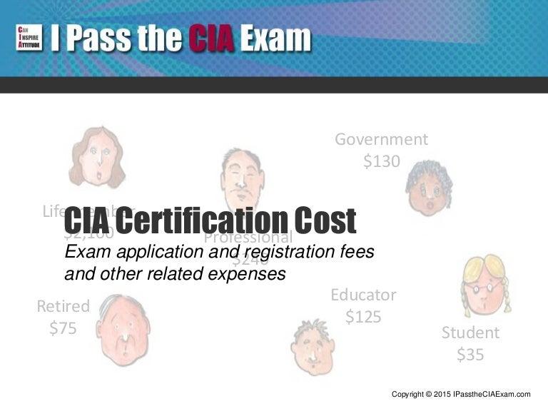 Cia Certification Cost