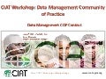 CIAT Workshop: Data Management Community of Practice