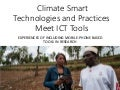 Climate Smart Technologies and Practices meet ICT Tools