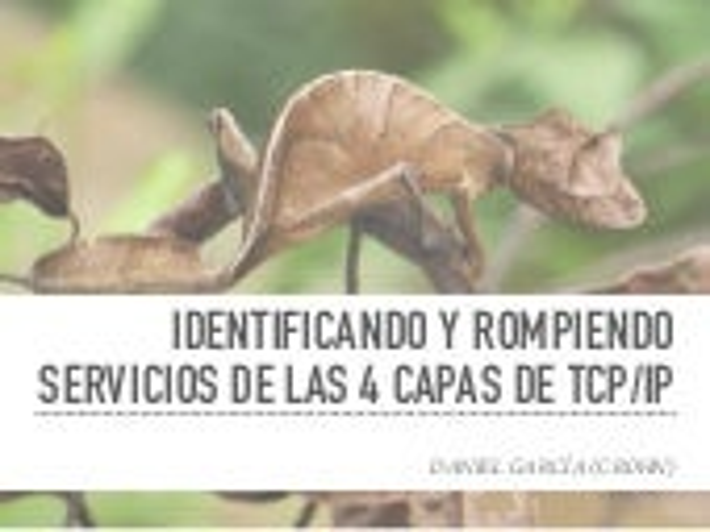 Identificando y rompiendo servicios de las 4 capas de TCP/IP