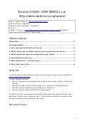 CIDOC-CRM + SPARQL Tutorial sur les données Doremus