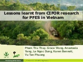 Lessons learnt from CIFOR research for PFES in Vietnam: Updated