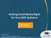 Getting Social Media Right for B2B Audience
