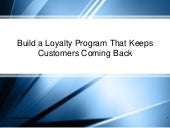 Build a Loyalty Program That Keeps Customers Coming Back