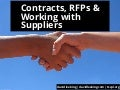 Contracts, RFPs, & Working with Suppliers