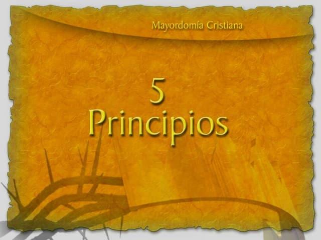 Cinco Principios de Mayordomía Cristiana