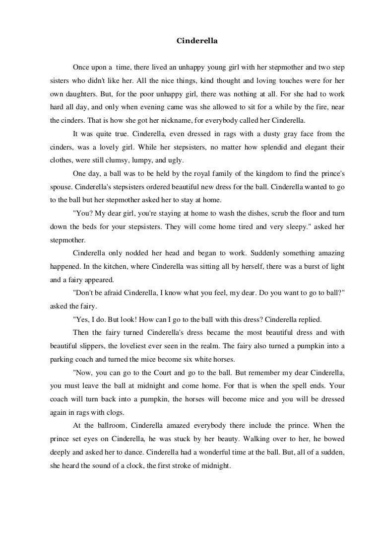 Dongeng Cerita Bahasa Inggris Narrative Text Cinderella