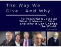 The Way We Give - And Why by Cindy Laquidara
