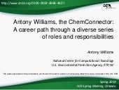 Antony Williams, the ChemConnector – a career path through a diverse series of roles and responsibilities